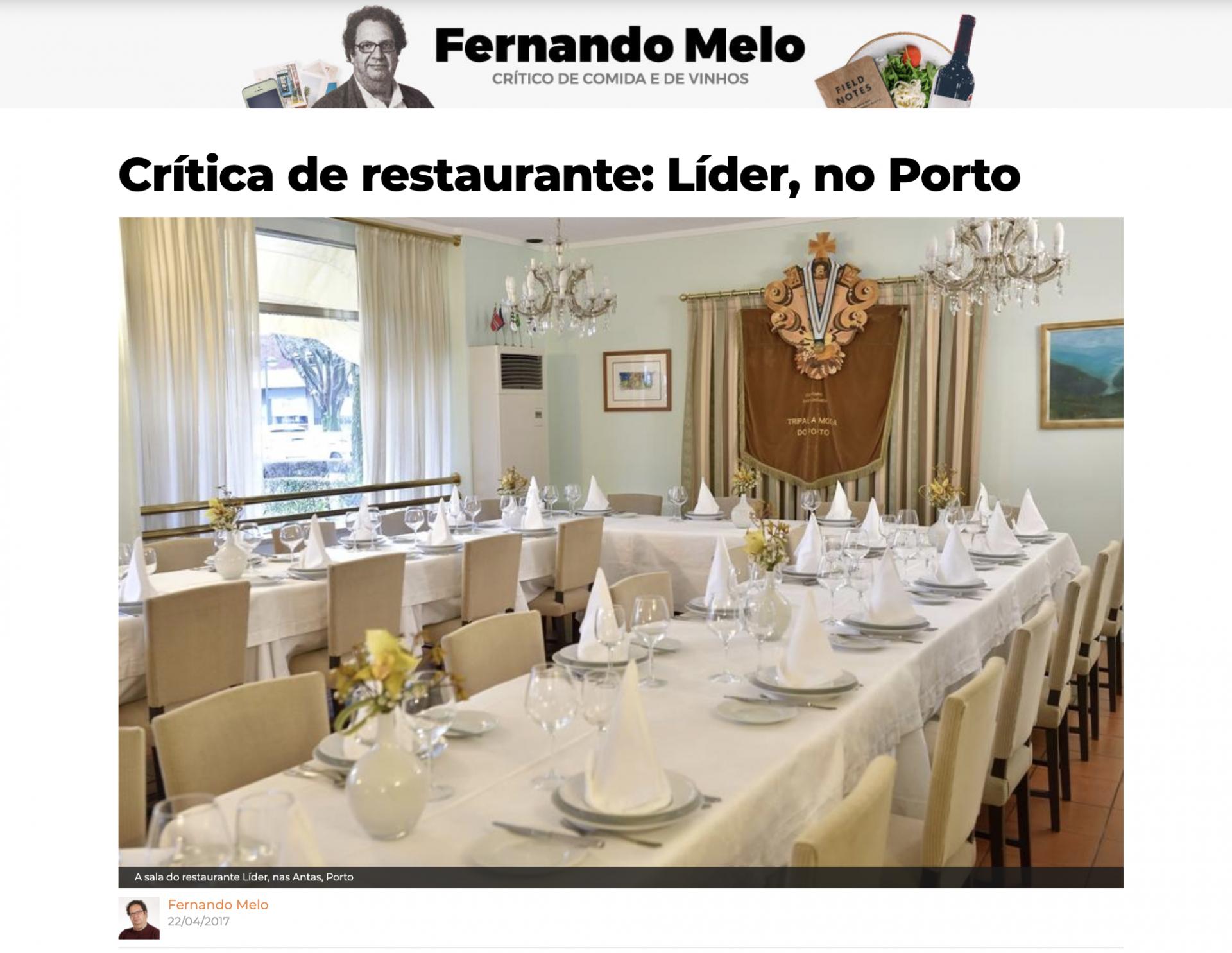 Evasões – Crítica de restaurante: Líder, no Porto
