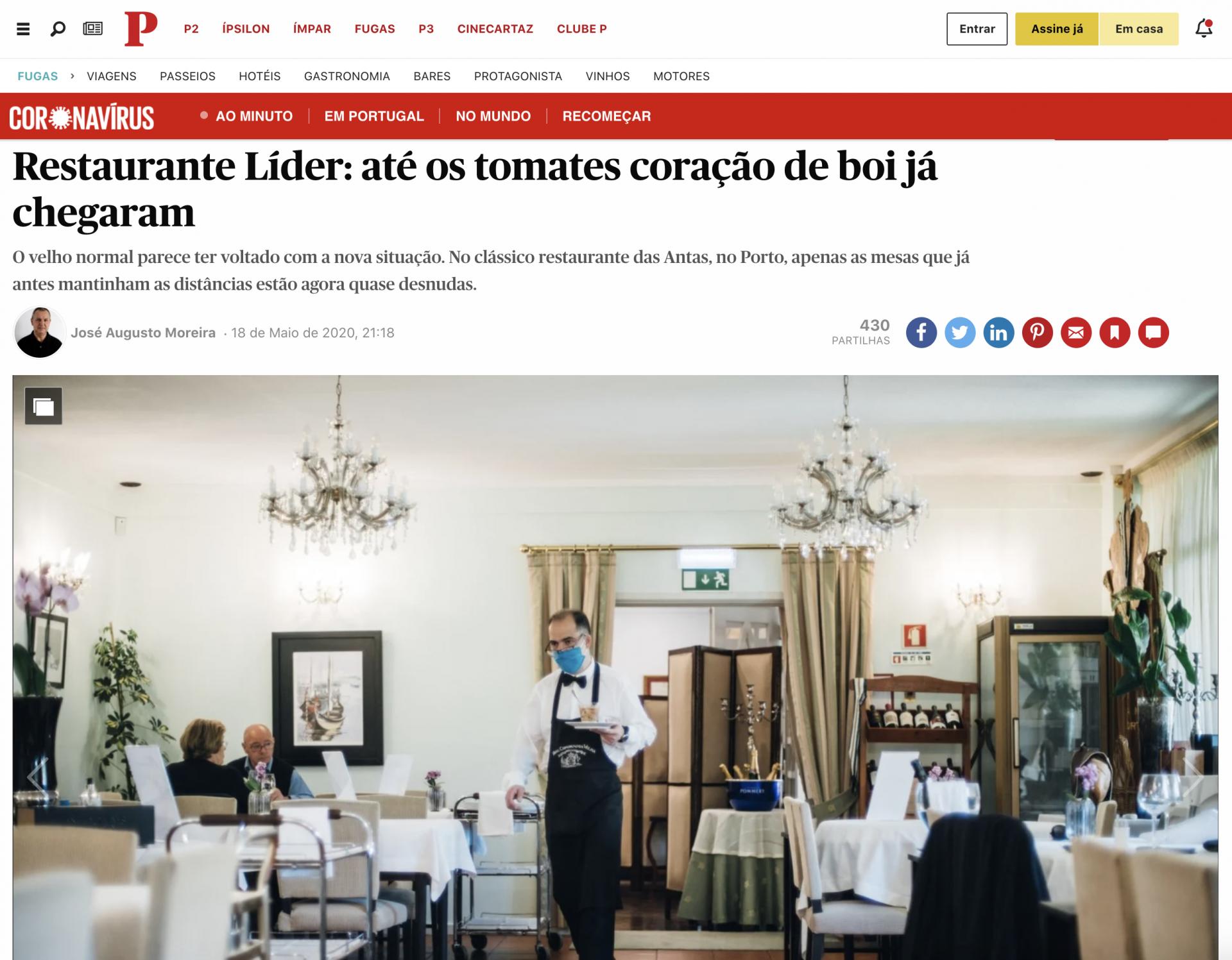 Público – Restaurantes Líder: até os tomates coração de boi já chegaram